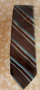 Johnny Carson Brown Stripe Tie